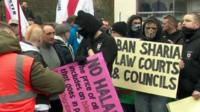 EDL supporters at a protest in Dudley