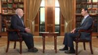 BBC's Jeremy Bowen and President Bashar al-Assad