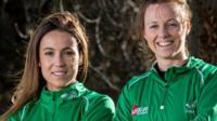Ireland's Anna O'Flanagan and Megan Frazer