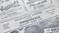 Newcastle United memorabilia from John Alder's collection
