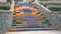 Multi-coloured staircase