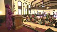 Prayers at women-only mosque in Los Angeles