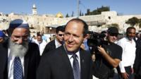 File picture of Jerusalem Mayor Nir Barkat (October 2013)