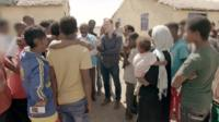 Paul Kenyon at refugee camp