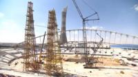 World Cup stadiums under construction in Qatar