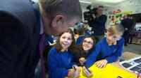 Prof Graham Donaldson launched his report at a school in Canton, Cardiff