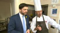 Stephen Crabb and a chef