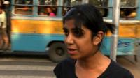 Woman is asked on whether she feels safe in India
