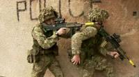 Soldiers from the British Army