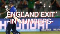 England's World Cup exit in numbers