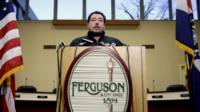 Ferguson Mayor James Knowles III announces the resignation of police chief Thomas Jackson