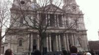 The service is being held at St Paul's Cathedral in London