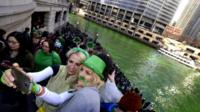 Selfies at the Chicago River