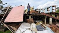 Wrecked building in Port Vila, Vanuatu