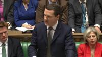 George Osborne opens his Budget speech