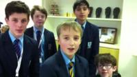 Teams of pupils at Pershore High School in Worcestershire researched schools, GCSE options and the mud run.