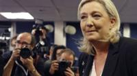 French far-right leader and National Front Party, Marine Le Pen