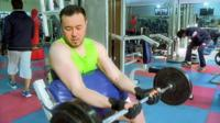 Fahim Hashimy in the gym