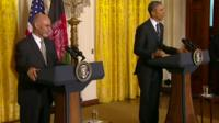 President Obama met with his Afghan counterpart Ashraf Ghani at the White House