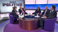 Jo Coburn, Andrew Neil. Priti Patel, Chuka Umunna and James Landale