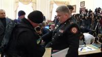 Head of Ukraine's state emergencies service, Serhiy Bochkovsky, is arrested