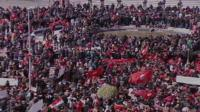 Tunisians march in protest against terrorism.