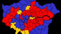 Election results map from 2010
