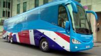Conservative election battle bus