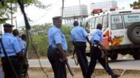 Kenyan police officers