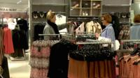 Shoppers in Marks & Spencer