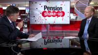 Simon Gompertz answering pensions questions