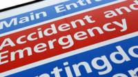 Accident and Emergency sign - file photo