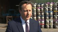 David Cameron at Brains Brewary