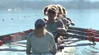The Cambridge women's rowing team