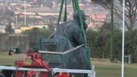 Statue of Cecil Rhodes being removed