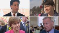 Ed Miliband, Ruth Davidson, Malcolm Bruce and Nicola Sturgeon