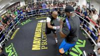 Floyd Mayweather's open training session