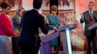 Party leaders at election debate