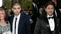 Zayn Malik and Shah Rukh Khan arrive at The Asian Awards on Friday