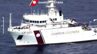 Italian coastguard vessel at sea