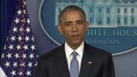 President Obama making statement on death of two hostages