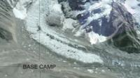 A graphic of base camp's location