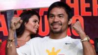 Pacquiao and Mayweather talk to the press ahead of the big fight weekend