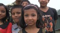 Children in Nepal at camps