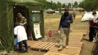 Clive Myrie reports from Israeli field hospital