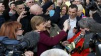Nicola Sturgeon takes a selfie