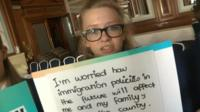 A Polish-born girl asks if immigration policies could force her family to leave Wales
