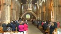 Llandaff Cathedral VE Day service