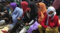 Migrants who tried to travel from Libya to Europe