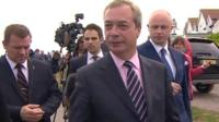 Nigel Farage and reporters